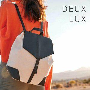 Deux Lux x FabFitFun Vegan Leather Canvas Backpack